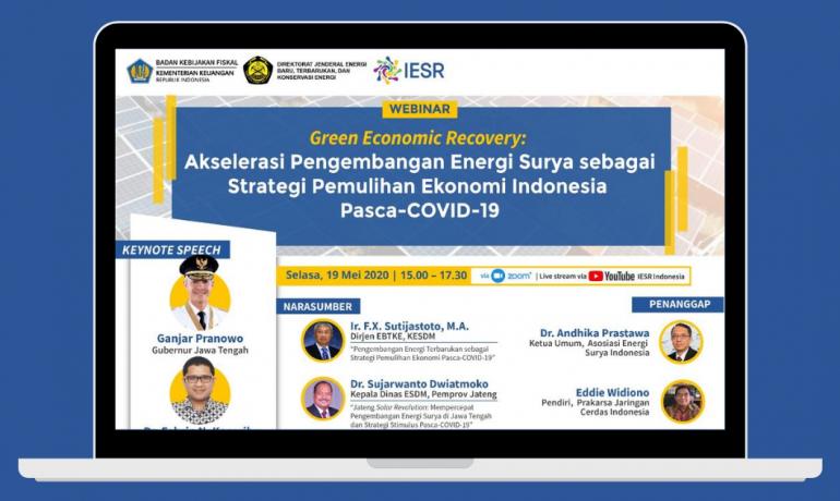 Webinar Pemulihan Ekonomi Pasca-COVID-19 dengan Energi Surya